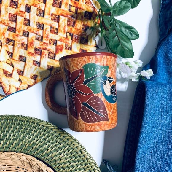 Vintage hand painted ceramic mug/planter